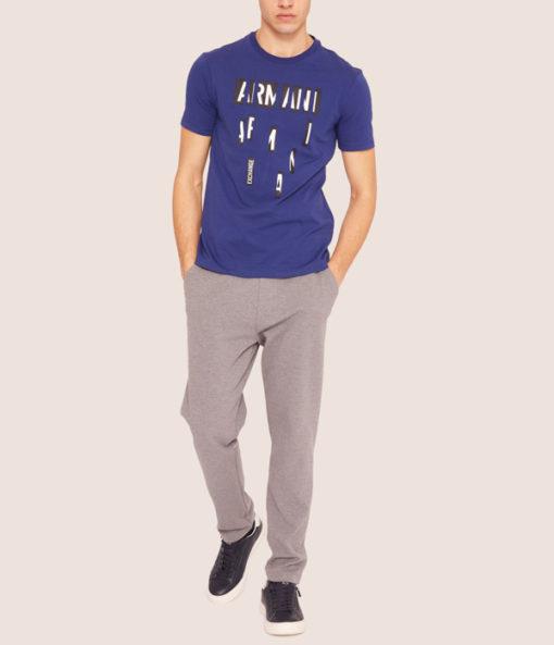 Armani Exchange pantalone tuta grigio chiaro da uomo-1