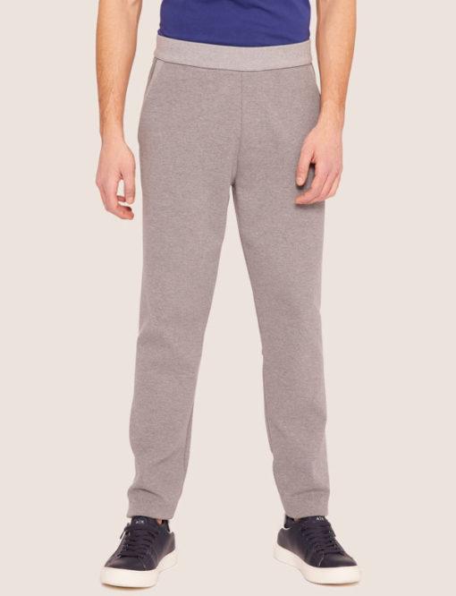 Armani Exchange pantalone tuta grigio chiaro da uomo-3