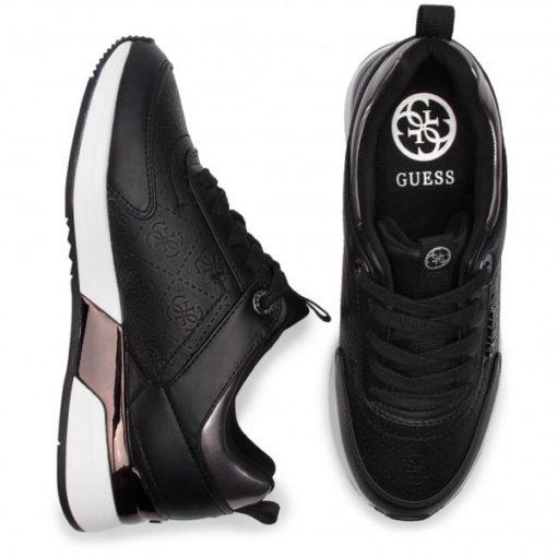 GUESS sneakers scarpe da donna nere logo all over-1