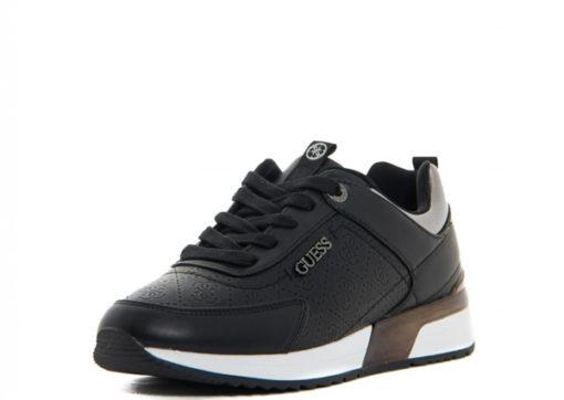 GUESS sneakers scarpe da donna nere logo all over-2