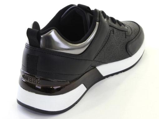 GUESS sneakers scarpe da donna nere logo all over-3