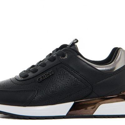 GUESS sneakers scarpe da donna nere logo all over