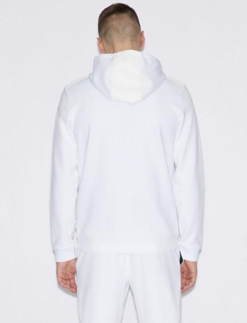 Felpa uomo Armani Exchange con cappuccio bianca -4