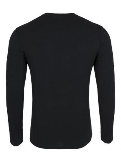 EMPORIO ARMANI t-shirt da uomo nera manica lunga-1