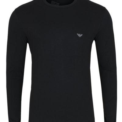 EMPORIO ARMANI t-shirt da uomo nera manica lunga