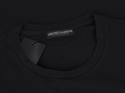 EMPORIO ARMANI t-shirt da uomo nera manica lunga-3