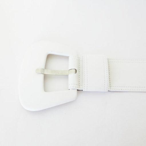 Cintura alta bianca in pelle Denny Rose-1
