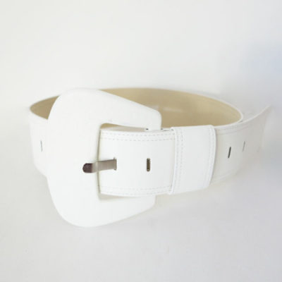 Cintura alta bianca in pelle Denny Rose