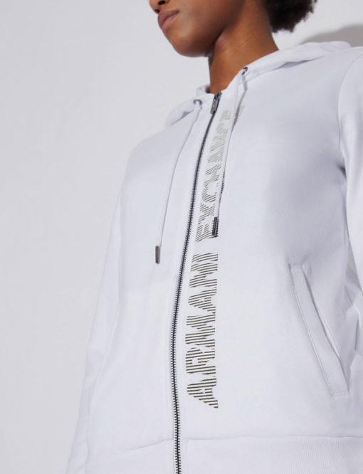 Armani Exchange felpa con zip e cappuccio da donna-5