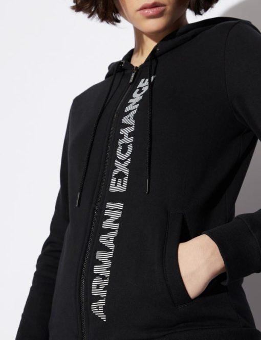 Armani Exchange felpa con zip e cappuccio da donna-6