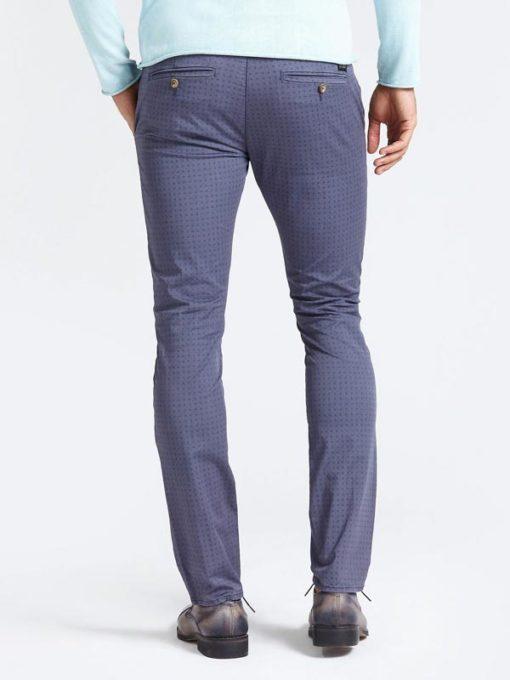 GUESS pantalone in microfantasia blu da uomo-3