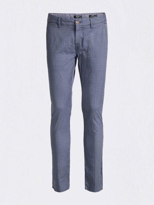 GUESS pantalone in microfantasia blu da uomo-2