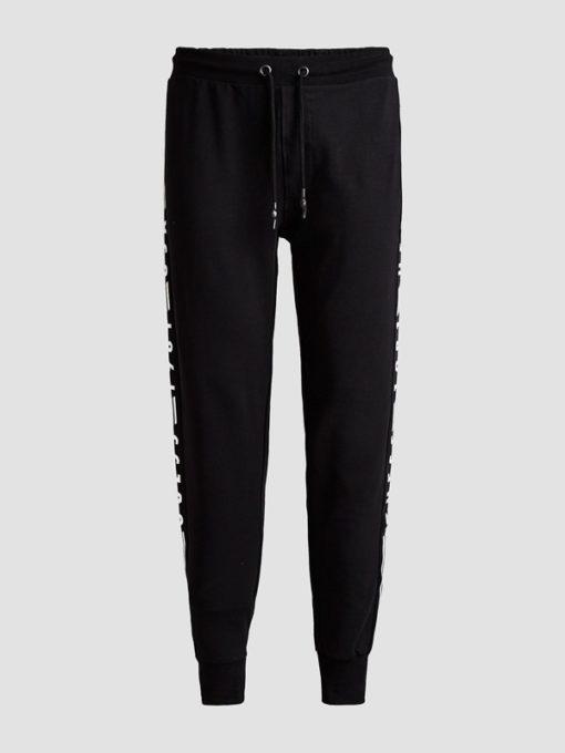 GUESS pantalone uomo tuta nero con scritte-2