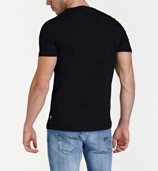 GUESS t-shirt uomo nera con logo centrale con 4G-6