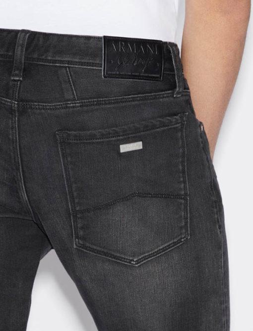 Jeans uomo nero Armani Exchange slim fit-2
