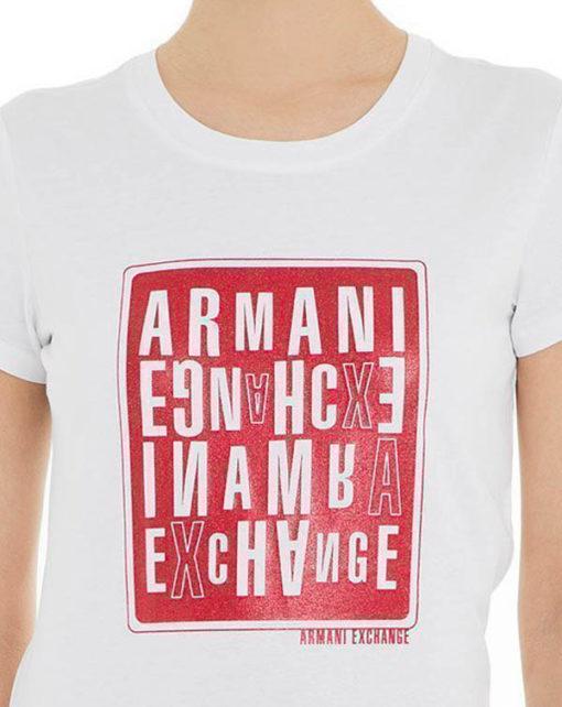 maglietta donna ARMANI EXCHANGE con stampa-3