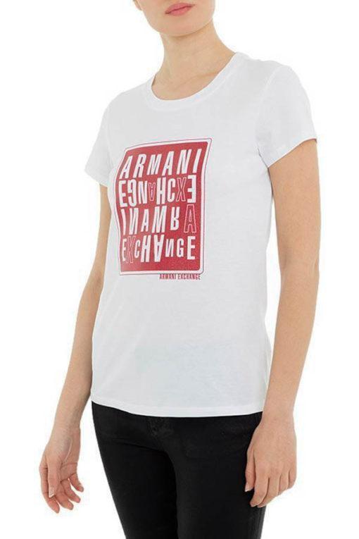 maglietta donna ARMANI EXCHANGE con stampa-5