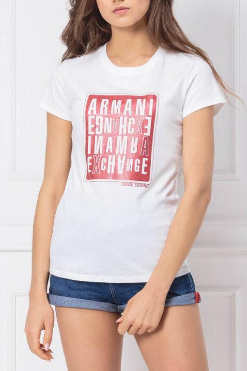 maglietta donna ARMANI EXCHANGE con stampa-1