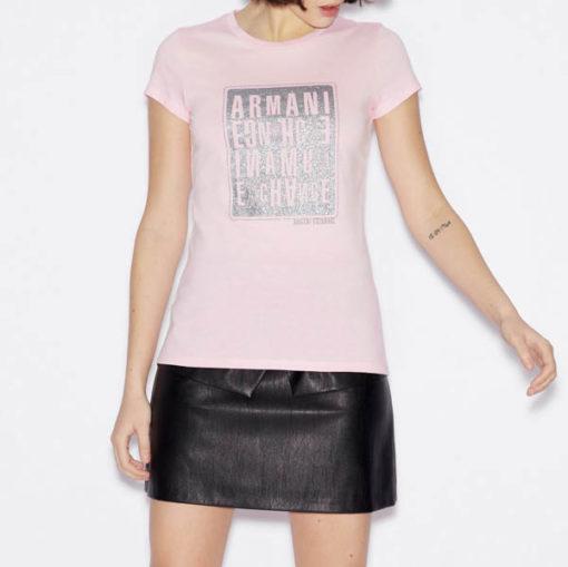 maglietta donna ARMANI EXCHANGE con stampa