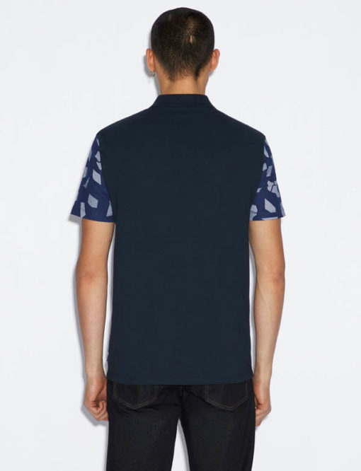 POLO ARMANI EXCHANGE DA UOMO IN FANTASIA BLU-4