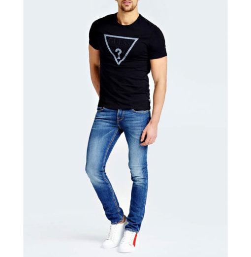 GUESS maglietta da uomo con logo a triangolo-2