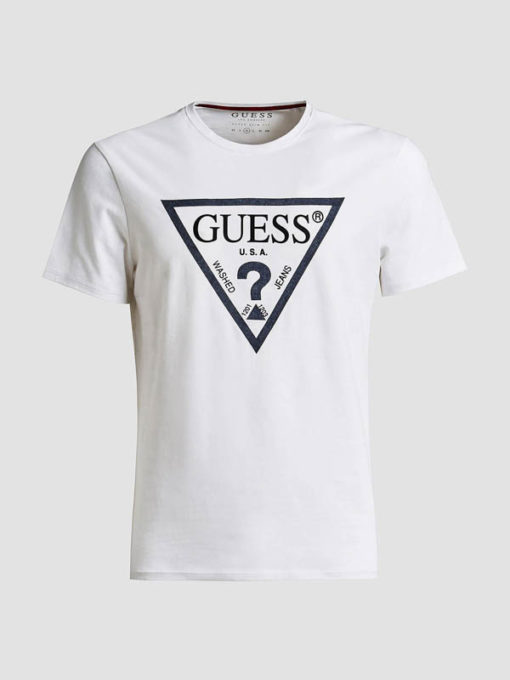 GUESS maglietta da uomo con logo a triangolo-4