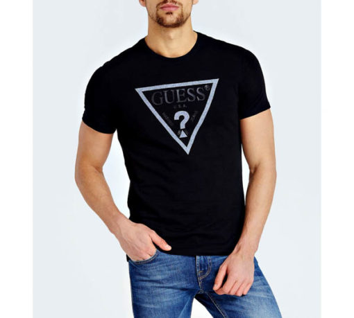 GUESS maglietta da uomo con logo a triangolo