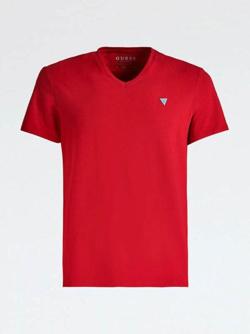 GUESS t-shirt a v tinta unita da uomo-2