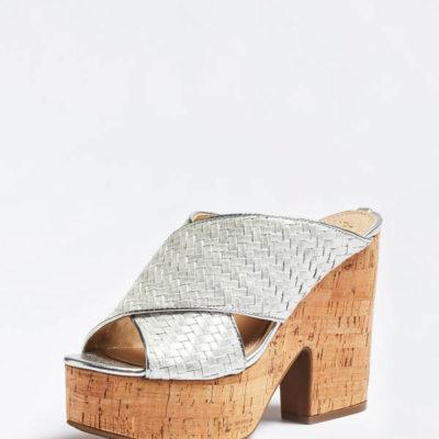 GUESS Scarpa donna argento modello Zeppa con suola in sughero