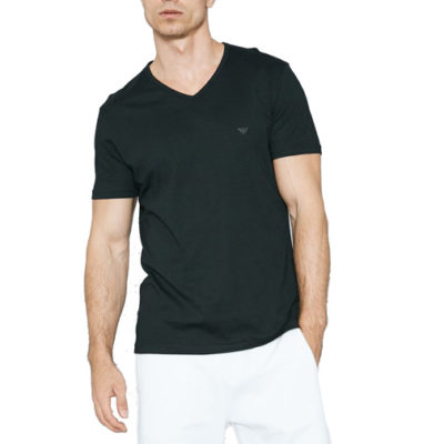 Maglietta Emporio Armani da uomo in cotone scollo a v