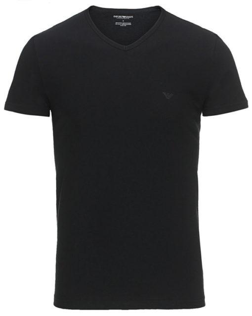 Maglietta Emporio Armani da uomo in cotone scollo a v-1