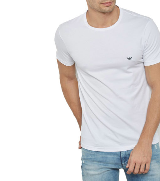 EMPORIO ARMANI t-shirt girocollo uomo con piccola aquila-2