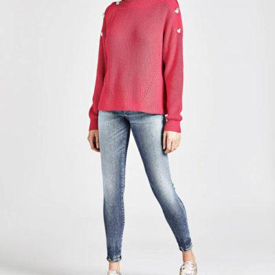 GUESS jeans donna elasticizzato con ricamo stella-3