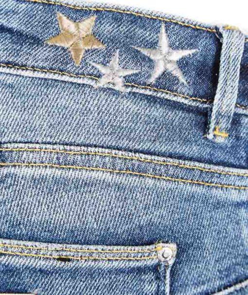 GUESS jeans donna elasticizzato con ricamo stella-1