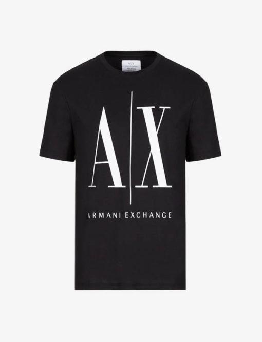 ARMANI EXCHANGE maglietta da uomo nero logo A|X -4