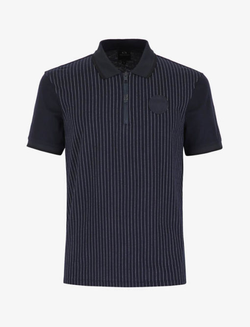 Polo Armani Exchange da uomo con zip-4