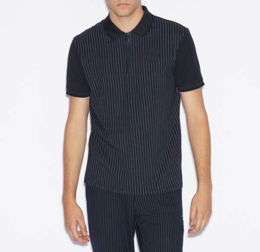 Polo Armani Exchange da uomo con zip