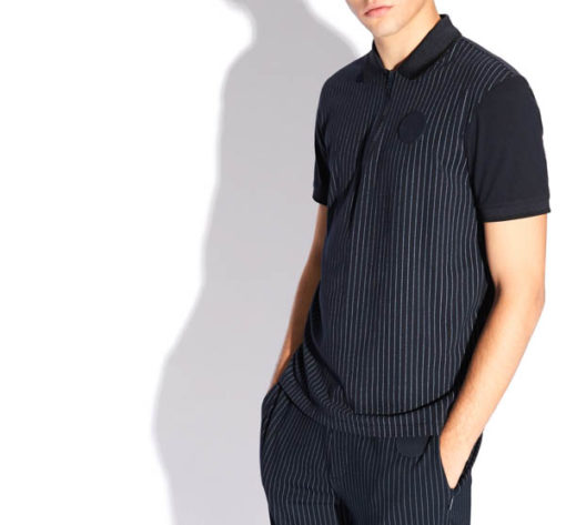 Polo Armani Exchange da uomo con zip-2