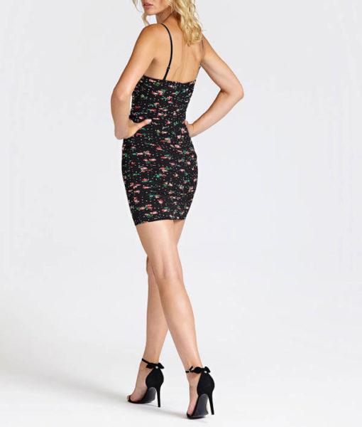 Vestito Guess corto da donna in fantasia-3