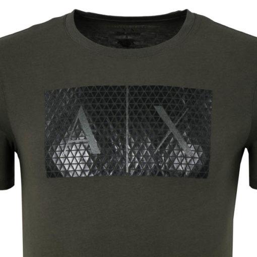 maglietta uomo Armani Exchange girocollo con logo-5