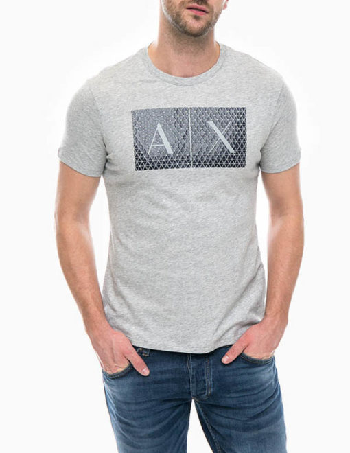 maglietta uomo Armani Exchange girocollo con logo-1