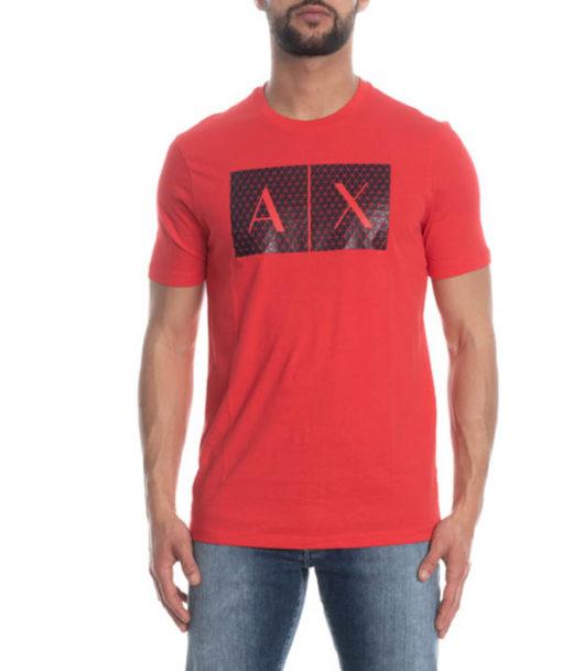 maglietta uomo Armani Exchange girocollo con logo-2