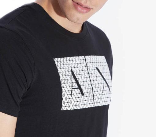 maglietta uomo Armani Exchange girocollo con logo-4