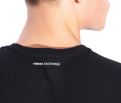 maglietta uomo Armani Exchange girocollo con logo-6