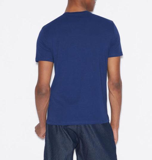 Maglietta Armani Exchange uomo con stampa azzurra-6