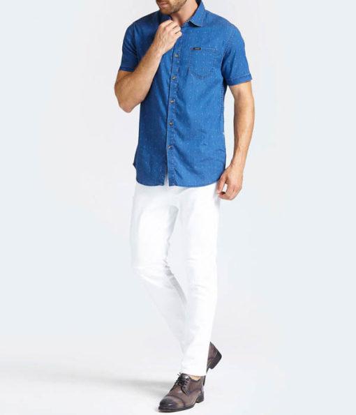 GUESS camici mezza manica in jeans-1