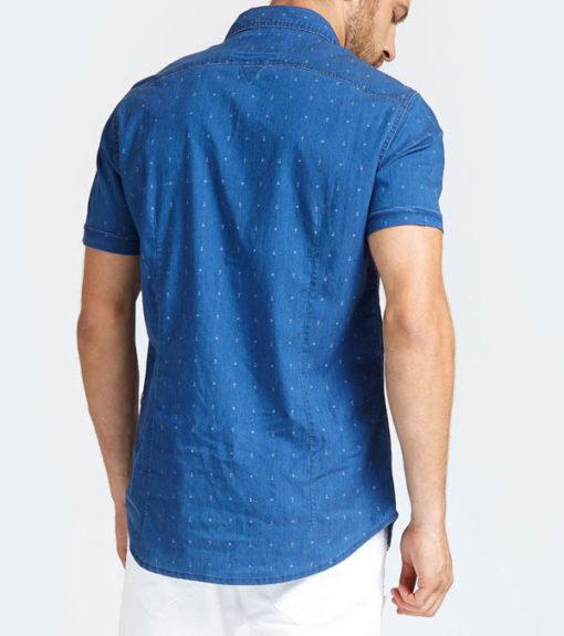 GUESS camici mezza manica in jeans-3