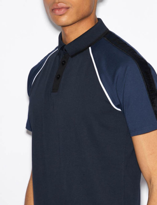 POLO BLU UOMO ARMANI EXCHANGE-3
