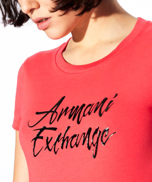Armani Exchange t-shirt in cotone donna-2
