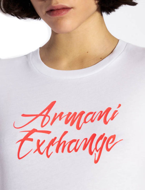 Armani Exchange t-shirt in cotone donna-5